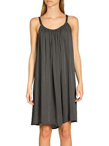 Caspar SKL010 Damen leichtes Baumwoll Sommerkleid, Farbe:dunkelgrau, Größe:One Size