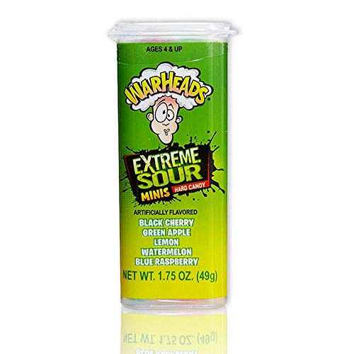 Warheads Mini Size Extreme Sour Hard Candy 1.75oz (49g)