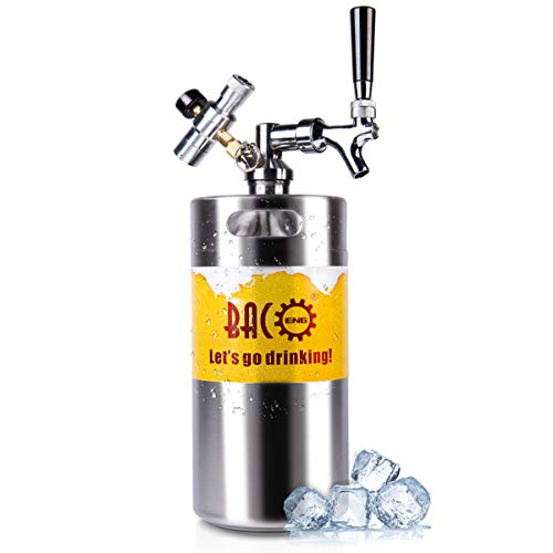 128 Ounce Pressurized Growler with Updated CO2 Regulator