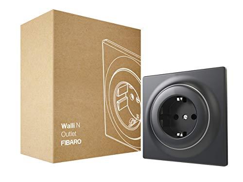 FIBARO Walli Outlet N F FGWSONF-011-8 - Caja para empotrar (tipo F, color antracita)