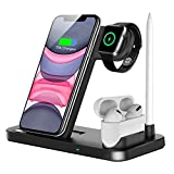 QI-EU Wireless Charger, 4 in 1 Fast Wireless Charging Station Compatible with...
