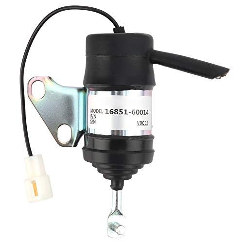 16851-60014 Válvula solenoide de 12 V, interruptor de control de apagado y apagado de llama para excavadoras pequeñas, tractores, cortacésped y otra maquinaria