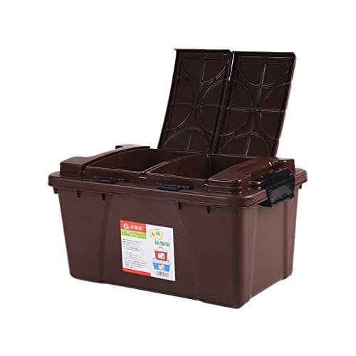 ZHAO YING Kofferraum Aufbewahrungsbox Auto Aufbewahrungsbox Heckbox Sortierbox Auto Aufbewahrungsbox Trümmerwaren Autozubehör (Color : Brown)