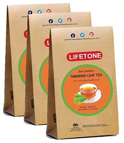 Té de hojas de tamarindo, deliciosa hierba antioxidante para aliviar el estrés tropical, 60 bolsitas de té