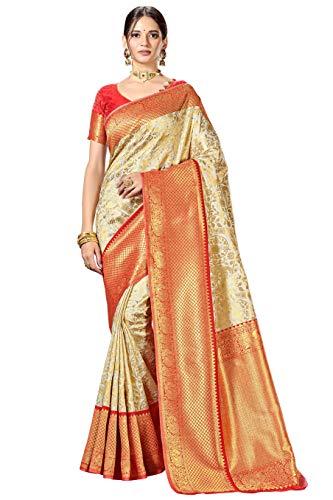 CLOTHAM Women's Banarasi Saree