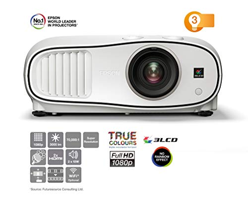 Epson EH-TW6700 Video - Proyector (3000 lúmenes ANSI, 3LCD, 1080p (1920x1080), 70000:1, 16:9, 762 - 7620 mm (30 - 300'))