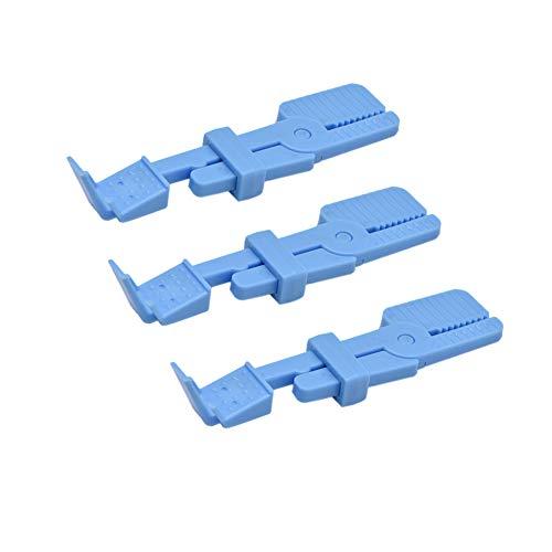 Angzhili 3 Pcs Dental X Ray Film Holder,Intraoral Film Clip Holder(Blue)
