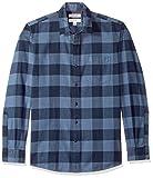 Marca Amazon - Goodthreads - Camisa de franela cepillada de manga larga y corte estándar para hombre, Azul...