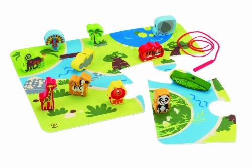 Hape E1021 E1021-Safari-Spielset, Sortier, Stapel Steckspielzeug