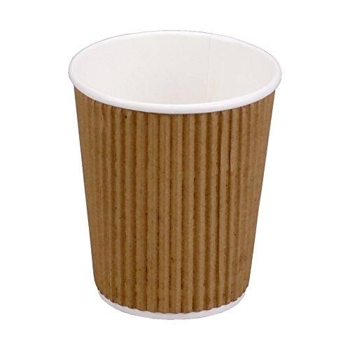25x Coffee to go Becher ECO Ripple, Hartpapier/PE, Braun/Weiß, 200 ml