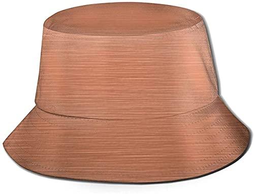 Unisex Outdoor Bucket Hüte Breite Krempe Sonnenschutz Fischerhüte mit Kupferplatte Fassade Tough Element Pink Rose Gold