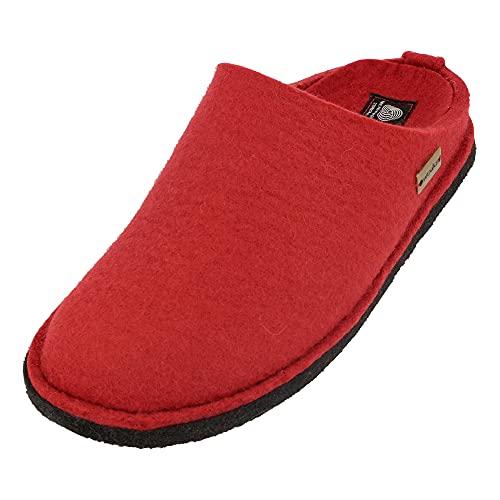 Haflinger Flair Soft, Zapatillas De Estar Por Casa Unisex adulto, Rojo (Rot 11 Rubin), 44 Eu