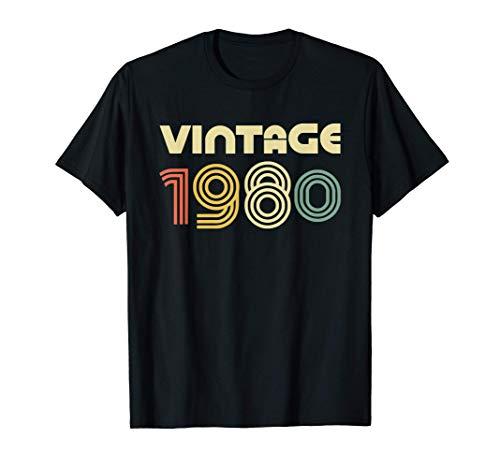 Vintage 1980 T-Shirt 41st Birthday Gift Shirt Camiseta