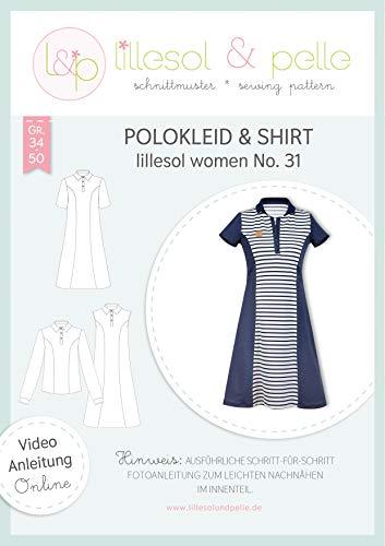 lillesol & pelle Schnittmuster lillesol Women No.31 Polokleid & Shirt in Größe 34-50 zum Nähen mit Foto-Anleitung und Video