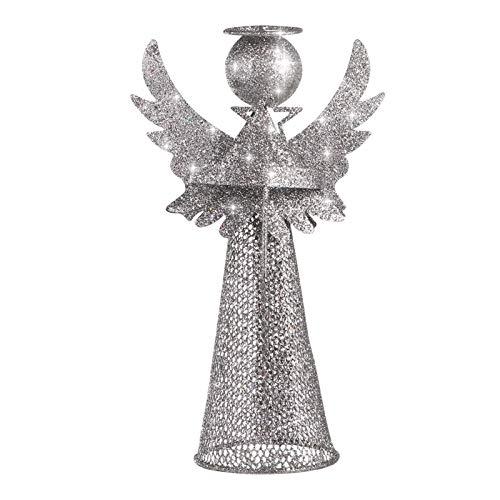 Christmas Tree Topper Angelo Cima di angelo della decorazione di figura Puntale dell'albero di...