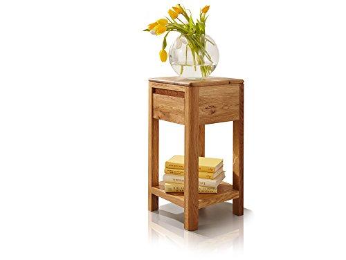 moebel-eins Verona Blumensäule, Material Massivholz, Wildeiche massiv geölt, 60 cm