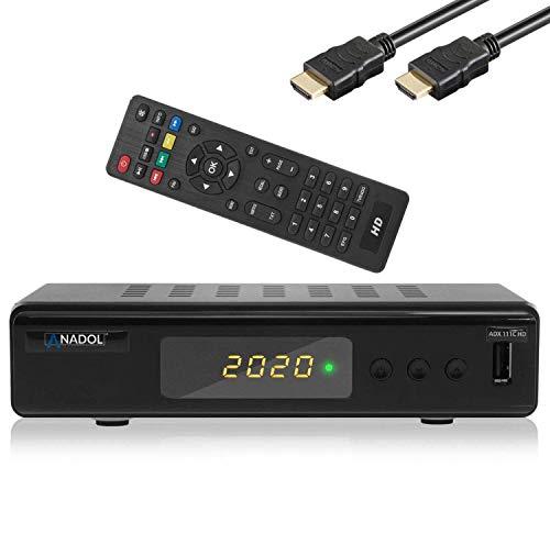 Xaiox Anadol 111c digitaler Full HD Kabel-Receiver - USB Aufnahme Funktion, [Umstieg Analog auf Digital] inkl HDMI Kabel (HDTV, DVB-C / C2, HDMI, Mediaplayer, 1080p) [automatische Installation]