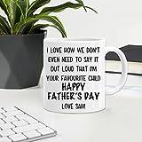 Taza de café de cerámica con nombre personalizado para el día del padre, coleccionando novedad o regalo perfecto personalizado impreso mejor regalo para el mejor regalo de papá 08