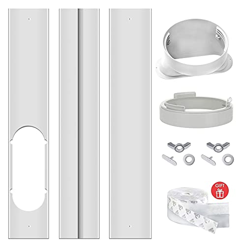 graffitimaster Portable Air Conditioner Window Vent Kit  Adjustable Window Seal Plate Kit for AC Unit  Adjustable AC Replacement Window Kit for Exhuast Hose of 15cm/5.9 Inch.