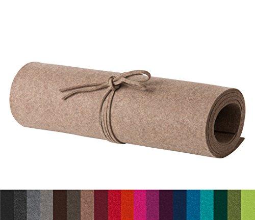 FineFilz Tischläufer TL 140 x 40 cm aus reinem Merinowollfilz in vielen Farben (Havanna Melange)