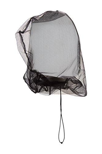Mountain Warehouse Moustiquaire de tête Vacation Bug - Filet léger à Moustique, Sac de Rangement en Maille, Cordon de Serrage - Voyage, Camping Noir Taille Unique