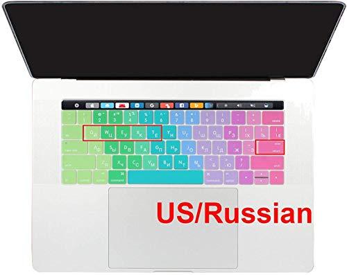 All-Equal Cyrillische Russische Taal Toetsenbord Cover Huid Voor Macbook Pro 13 15 2019 A1706 A1707 A1989,Regenboog, size, Regenboog