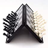 DUOER home Juego de Mesa de ajedrez Junta Plegable Set magnético de ajedrez de Viaje Mini Divertido Entre Padres e Hijos Juguetes educativos Juego Familia
