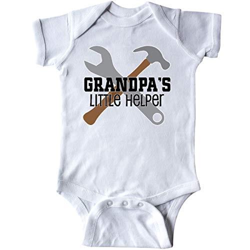 inktastic Grandpa Little Helper Infant Creeper Newborn White