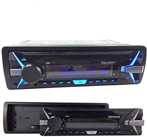 GOFORJUMP Radio de Coche RDS Desmontable de 1 DIN Bluetooth, Reproductor MP3 Digital, Radio FM con Audio de Coche Manos Libres de 12 V
