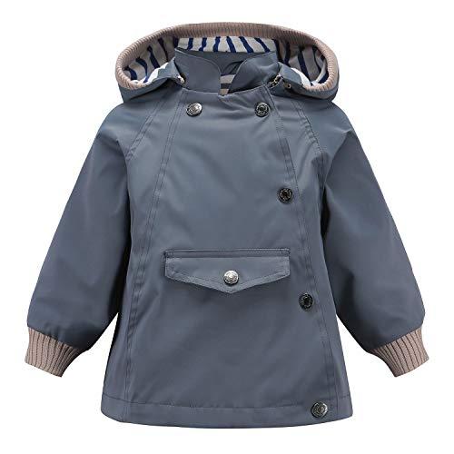 Echinodon Kinder Outdoorjacke Wasserabweisend Winddicht Jacke Mädchen Jungen Funktionsjacke Wanderjacke Regenjacke Dunkelblau 120