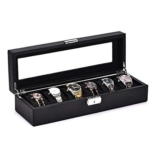 Duzhengzhou Uhr Aufbewahrungsbox Kohlefaser Leder Uhr Aufbewahrungsbox Uhr Box Klassische Fenster Uhr Display Box Brillenetui