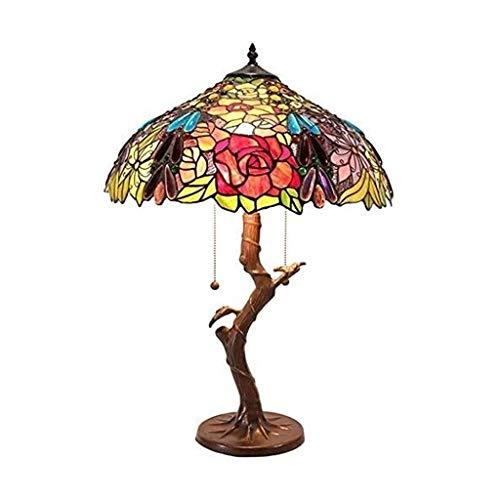 YXX Tiffany Style Night Light Table Lamp Ø 46Cm Bedside Table Lamp Simple Creative Retro Living Room Dining Night Light Nightstand Desk Lamp Lighting, Home Art Deco