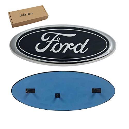 9inch F150 Front Grille Tailgate Emblem, Oval 9''x3.5' Black Decal Badge Nameplate Emblem Fit for Ford 004-2014 F150 (Black)