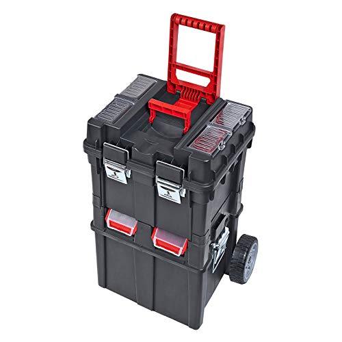 ADB HD Werkzeugkasten/Trolley/Werkzeugtrolly, aus Kunststoff/Werkstattwagen, 495x350x712mm, mit Rollen, fahrbar, rollende Werkstatt