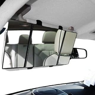 Three Fold Automotive Car Sun Visor Strap On Mirror Makeup Sun-Shading Cosmetic Folding Mirror