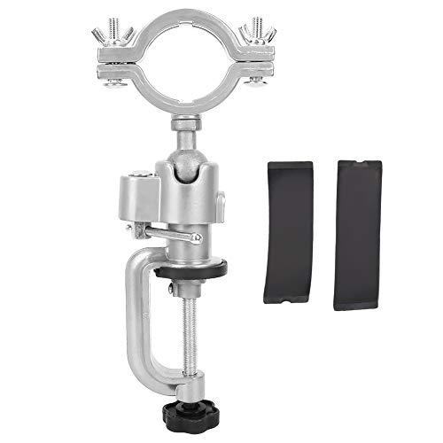 Abrazaderas de soporte de taladro, rotación de 360 ° Soporte de taladro eléctrico Soporte de amoladora Abrazadera de banco
