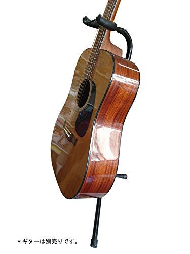 ARIAアリアギタースタンドブラック転倒防止ストッパー付GS-2003BBK