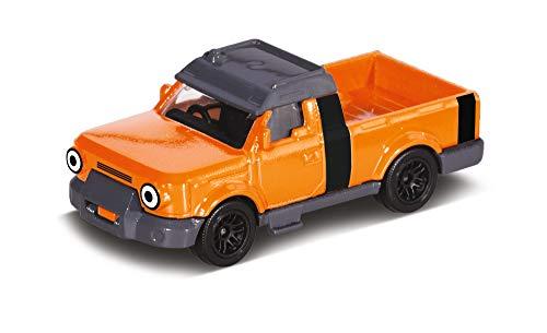 Dickie Toys 203131006 Bob Budowniczy Tread samochód zabawkowy z wolnym biegiem i ruchomymi częściami, kolor pomarańczowy, 7 cm