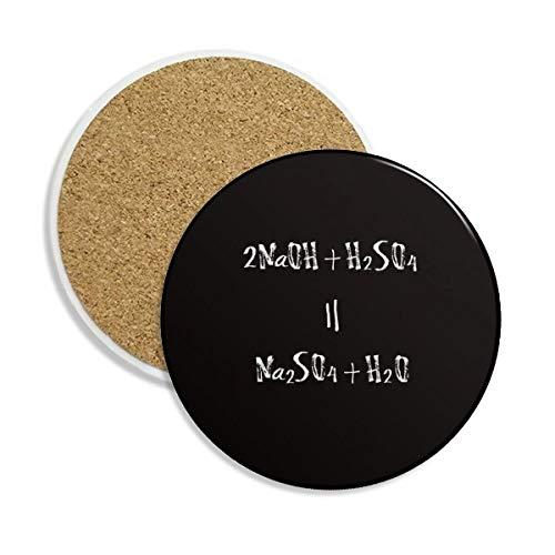 Chemie kowledge acid-base Reaktion Keramik Untersetzer Tasse Halter saugfähig Stein für Getränke 2Geschenk