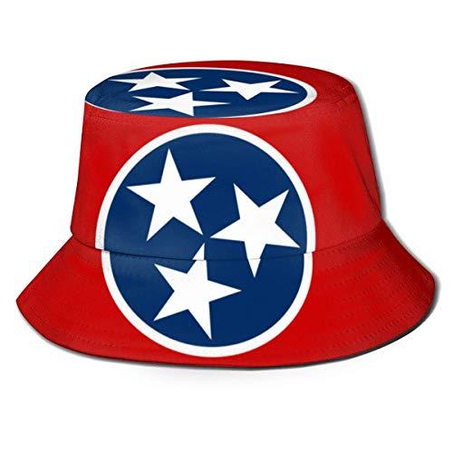 Tennessee Flag Eimer Hut Unisex Sonnenhut gedruckt Fisherman Packable Travel Hat Fashion Outdoor Hut
