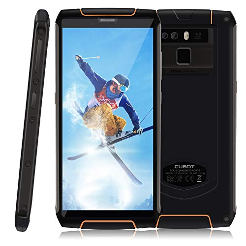 CUBOT King Kong 3 Smartphone Impermeabile IP 68, 5.5 Pollici Corning Gorilla, Batteria 6000mAh, Carica Rapida 9V/2A Dual Sim, Android 8.1, 4GB RAM 64GB ROM 4G Rugged Cellulare