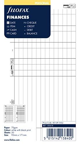 Filofax 130618 Finanzen Organizer, weiß