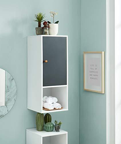 BAITA Wandregal für Badezimmer, weiß, grau, 0