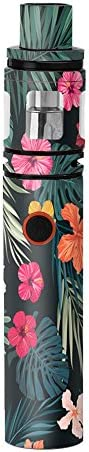 Skin Decal Vinyl Wrap for Smok Stick V8 Kit Vape stickers skins cover Hibiscus Flowers tropical product image
