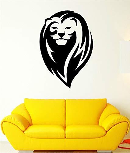 Wandaufkleber 3D Wandtattoo Schlafzimmer Fototapete Lion King Mähne Wild Cat Head Schöne Tier Aufkleber