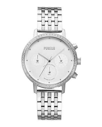 PURELEI Bold Glitter Uhr (Silber)