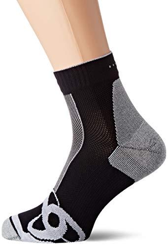 Odlo Socks Quarter Running BTS, Black-White, 36-38