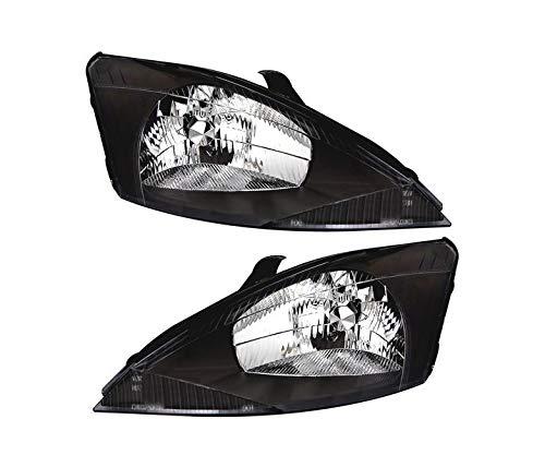 V-MAXZONE VP142 - Juego de faros delanteros de cristal transparente, color negro