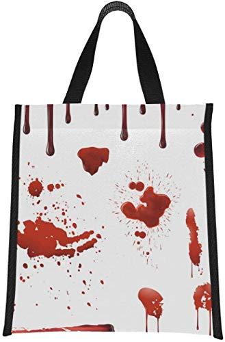 Bolsas de almuerzo para niños, salpicaduras de sangre, juego de manchas de sangre realistas, bolsas de almuerzo para niñas, niños, bolsa de almuerzo reutilizable, plegable, mantiene la comid