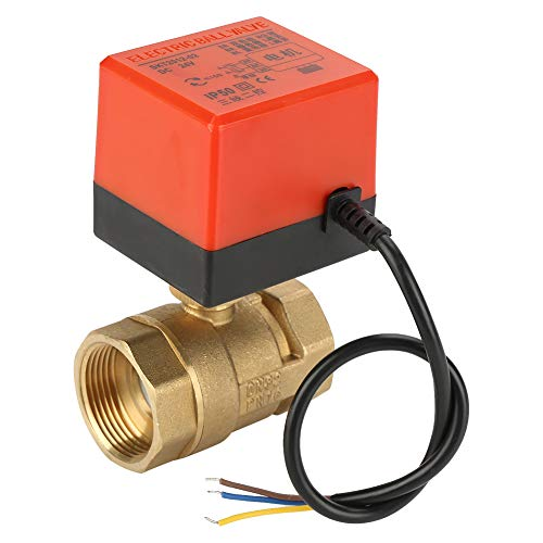 BACOENG 1//2 DN15 Messing BSP 2 Wege Motorkugelhahn Zonenventil DC12V CR05 5 Dr/ähte Elektrische Elektro Kugelventil